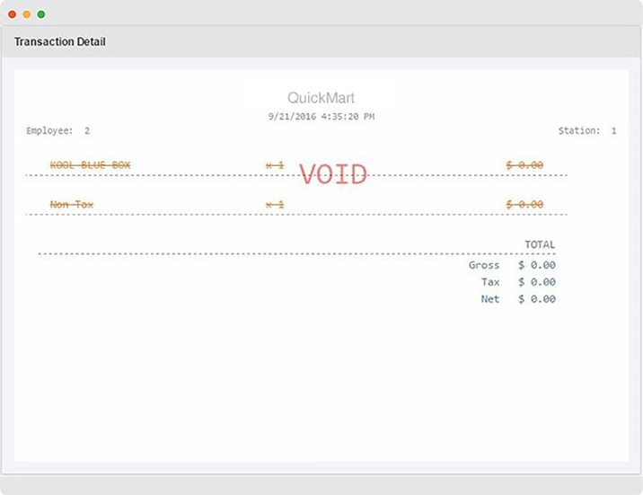 cloud-based inventory management transactional void
